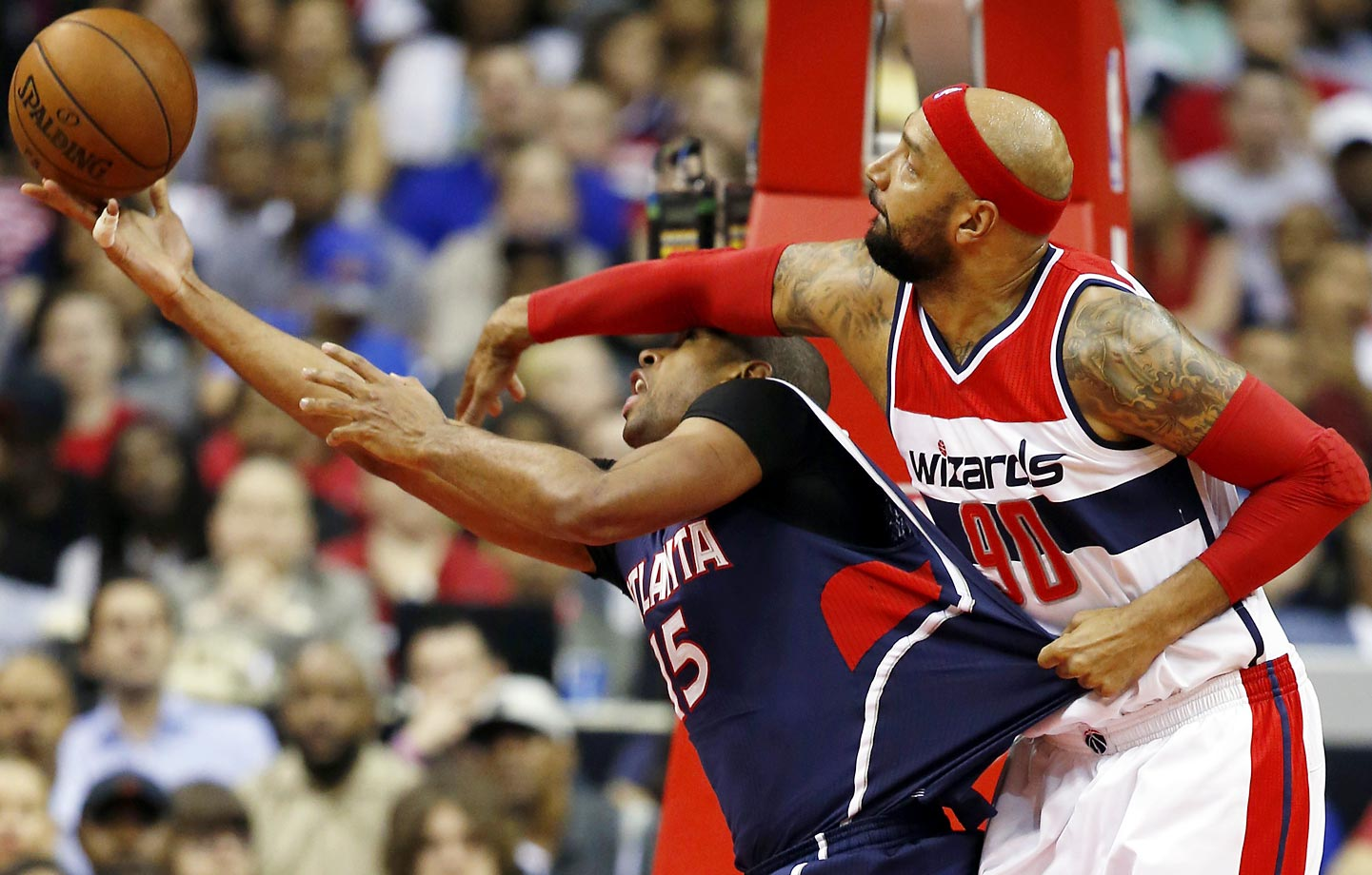 Wizards' Drew Gooden and Hawks' Al Horford.