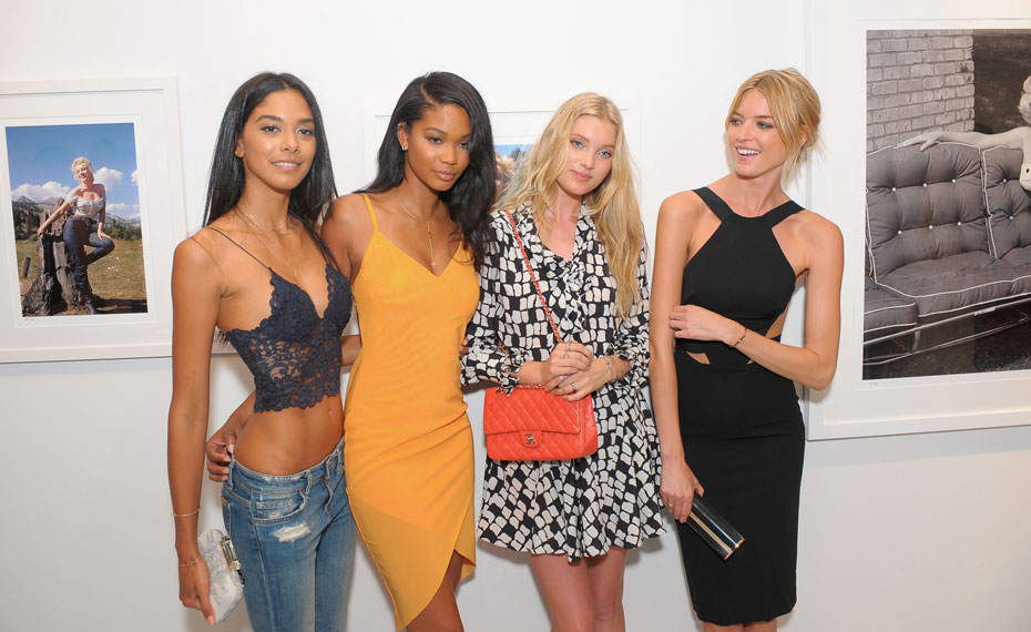 Heidy De la Rosa, Chanel Iman, Elsa Hosk and Martha Hunt :: Getty Images