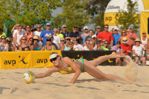 The vocal leader of the volleyball tandem, Emily Day is very different from Ross in a lot of ways, but it seems that dichotomy has helped the two become a formidable team in the AVP Tour as they enter as the top seed in the Women's division.