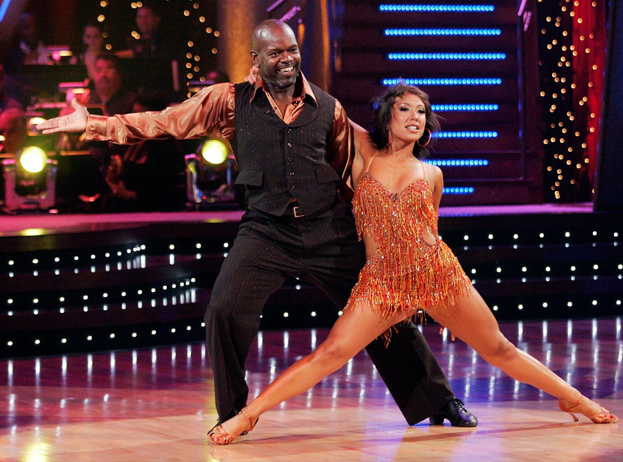 NFL Hall of Fame running back Emmitt Smith won 1st place with dancing partner Cheryl Burke in Season 3 and finished in 4th place with Burke in Season 15's Dancing with the Stars: All-Stars.