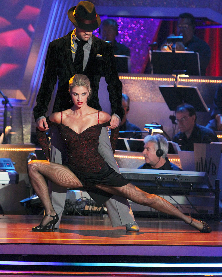 ESPN reporter/sportscaster Erin Andrews finished in 3rd place with dancing partner Maksim Chmerkovskiy in Season 10.