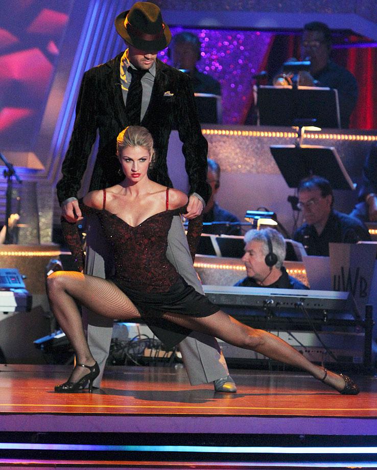 ESPN reporter/sportscaster Erin Andrews finished in 3rd place with dancing partner Maksim Chmerkovskiy in Season 10.