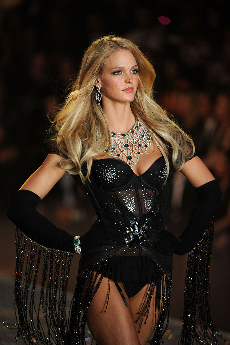 Erin Heatherton walks in the 2013 Victoria's Secret Fashion Show