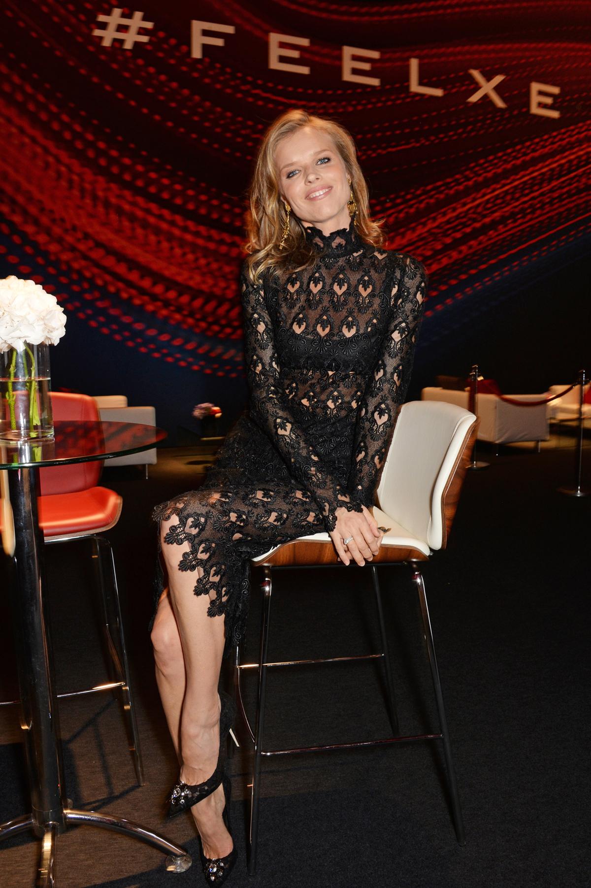 Eva Herzigova at Jaguar XE launch party