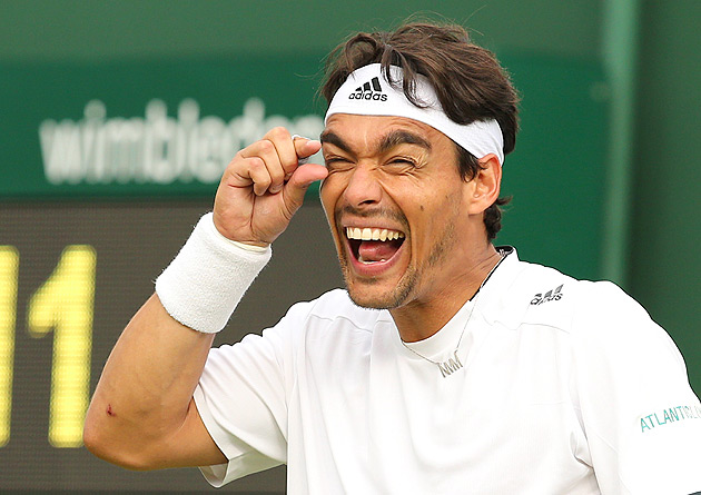 Needless to say, Fognini did not shake chair umpire James Keothavong's hand after the match.