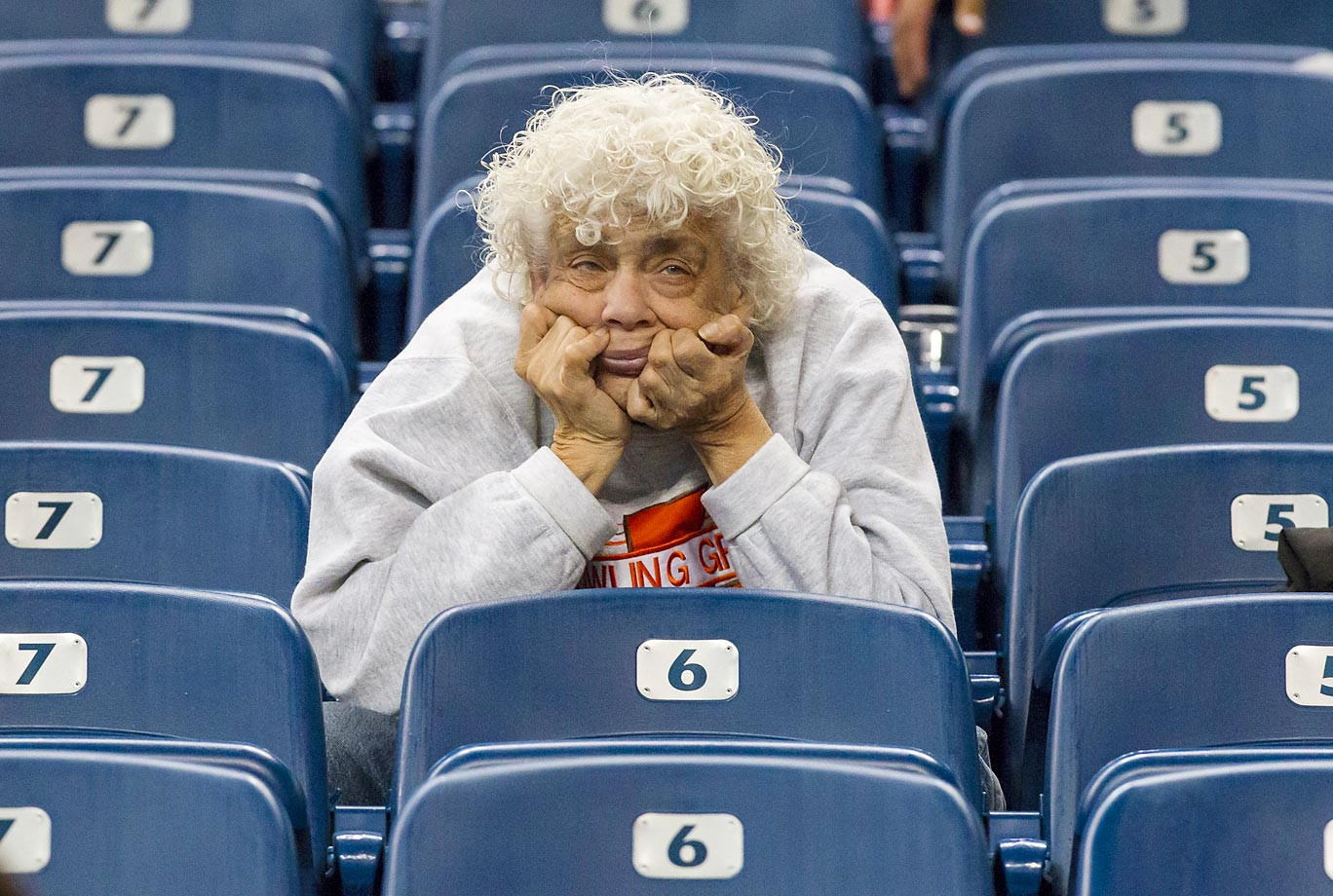 A Bowling Green fan does not appear to be happy at a game against Northern Illinois...   Bowling Green lost 51-17.