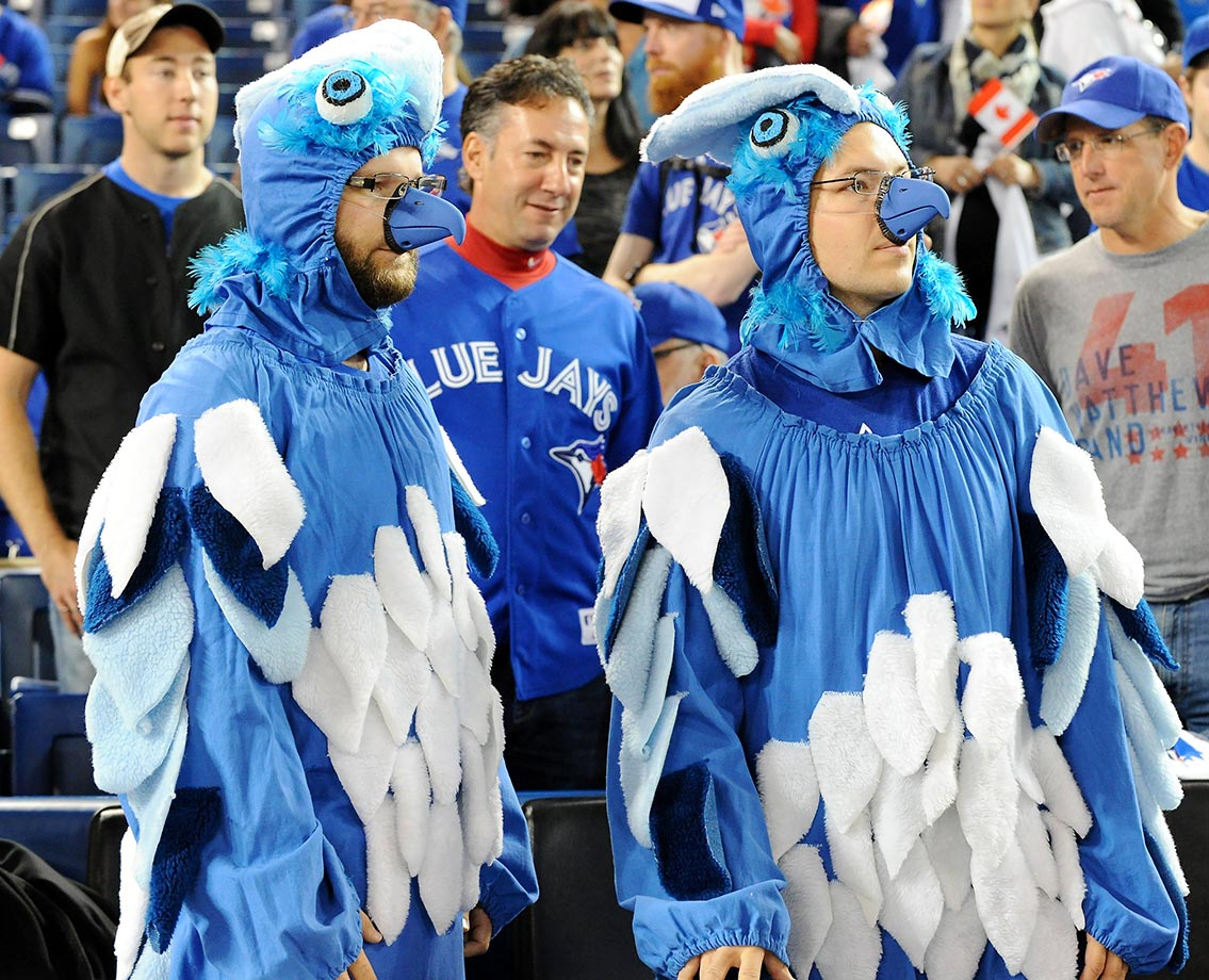 Blue Jays fans at the Game 2 of the ALDS against the Rangers.