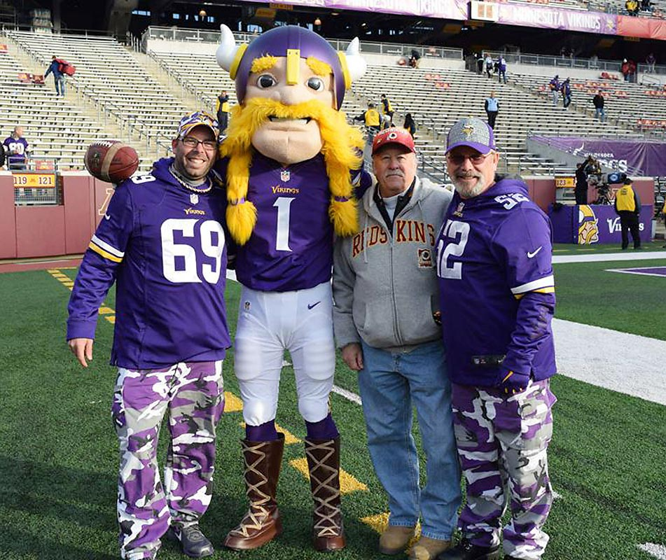 3 hours ago.  @SInow My Dad, son and I at Vikings/Redskins game Nov 2014. Took my dad for his birthday. Vikes Won #KeepGoodGoing