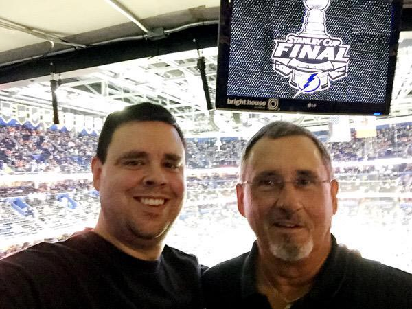 @SInow A thrill to take my dad to a Stanley Cup Final game after everything he's done for me #GoBolts #KeepGoodGoing