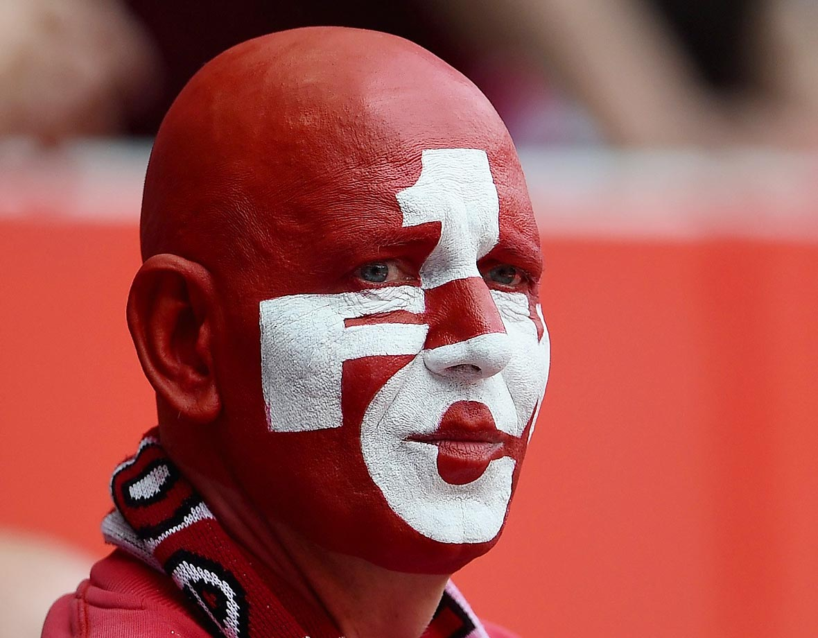 A fan of FC Kaiserslautern looks dejected after the Second Bundesliga match between 1. FC Kaiserslautern and FC Ingolstadt.