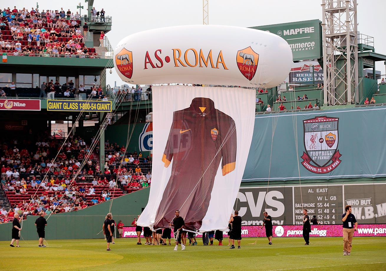 Liverpool played AS Roma at Fenway on July 23, 2014.