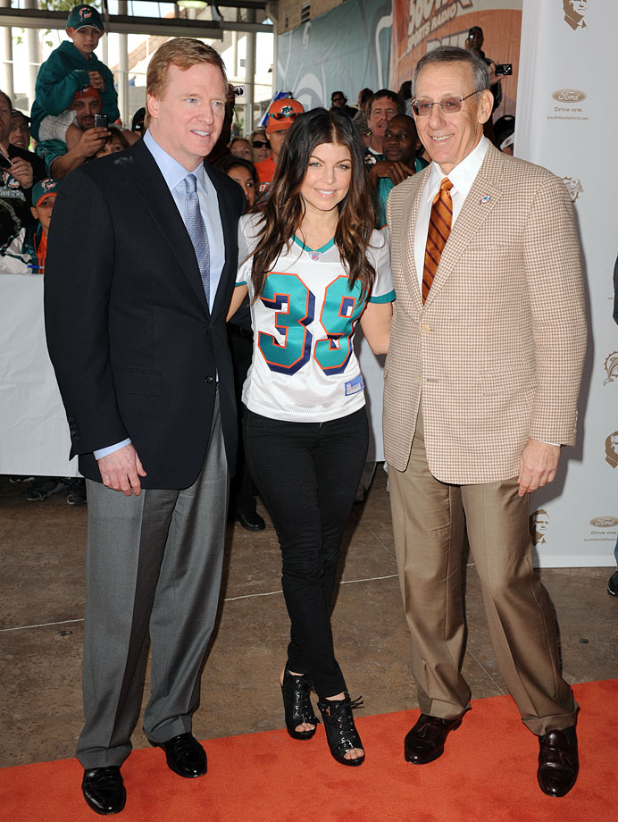 Black Eyed Peas singer Fergie became a minority owner of the Miami Dolphins in Oct. 2009.