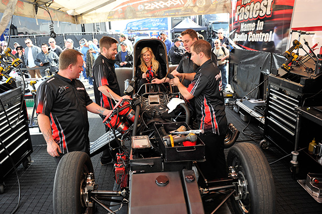 Courtney Force (center)