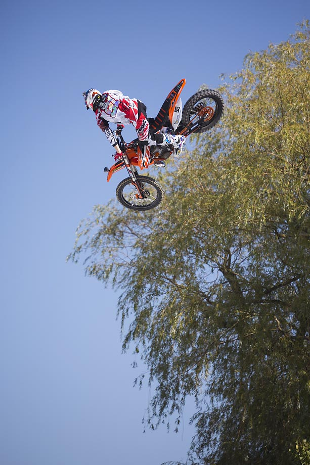 FMX rider Petr Pilat of Czech Republic during the Style Session run at freestyle.ch in Zurich.