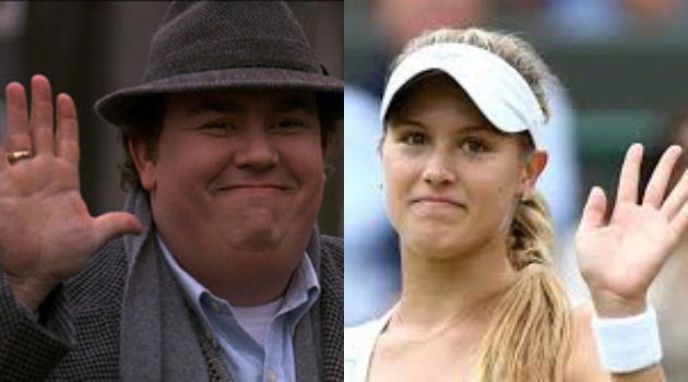John Candy and Eugenie Bouchard.