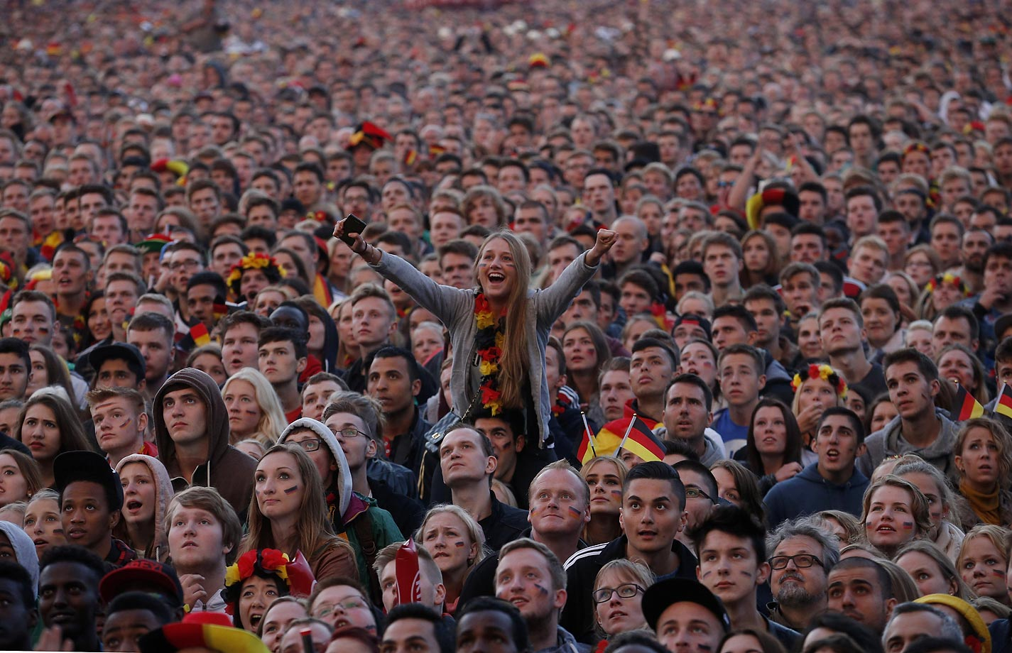 German fans in Hamburg, Germany.
