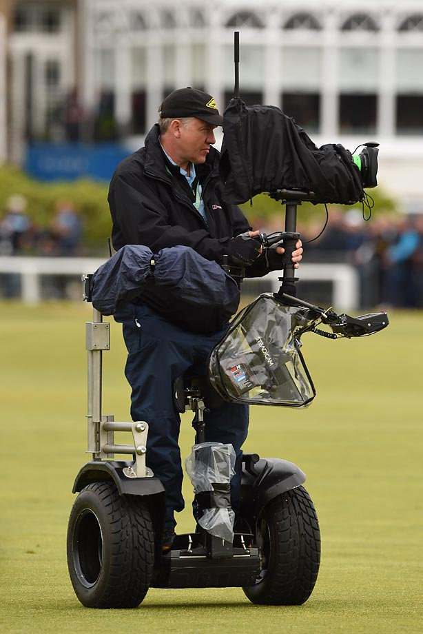 This is how a cameraman got around at the British Open.
