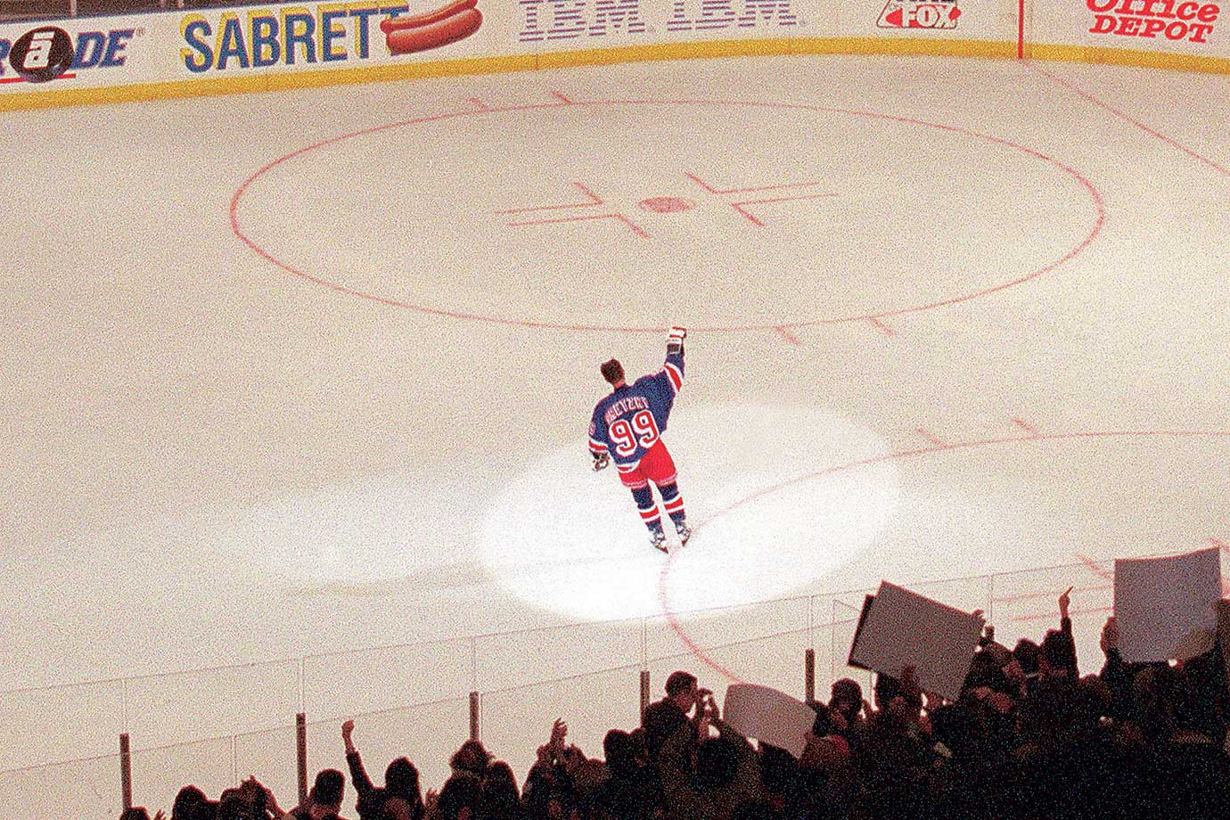 Wayne Gretzky, the only player in NHL history to have his jersey number retired by all teams, called it a career after 21 seasons and 61 NHL records. During his final game, in which he recorded an assist, he was awarded both the first, second and third star of the game.