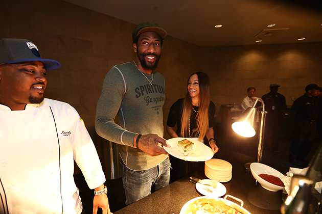 Amar'e Stoudemire, a well known food connoisseur and chef, hosts his 3rd Annual Employee Breakfast at Madison Square Garden.