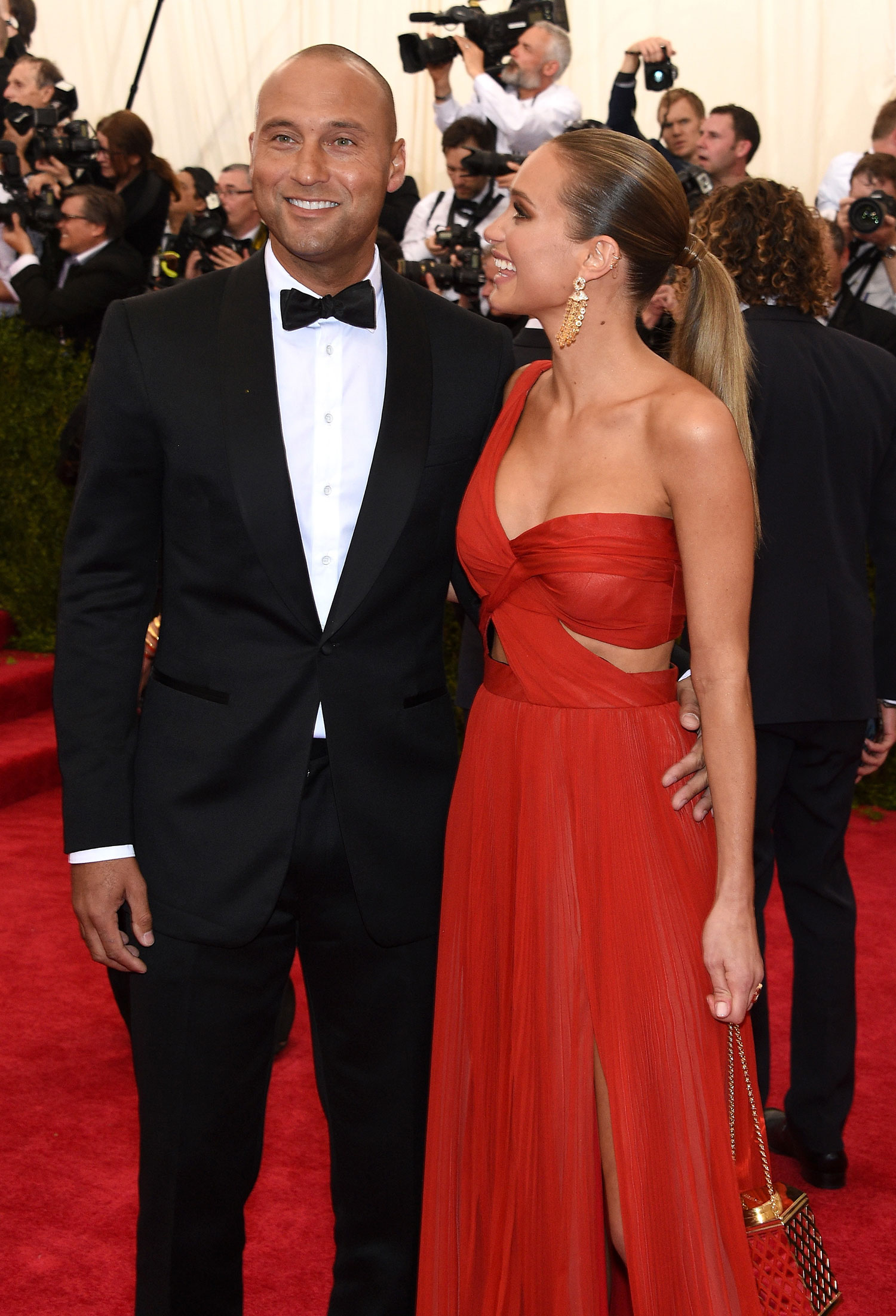Derek Jeter and Hannah Davis attend the 'China: Through The Looking Glass' Costume Institute Benefit Gala at the Metropolitan Museum of Art.