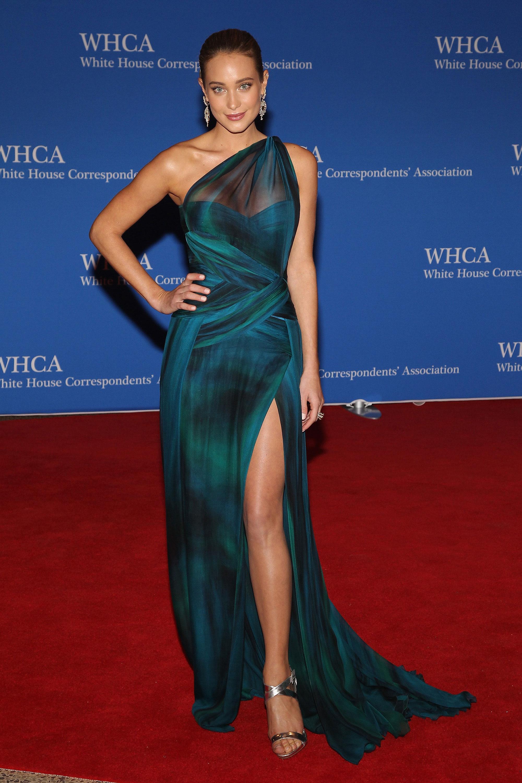 Hannah Davis attends the 101st Annual White House Correspondents' Association Dinner.
