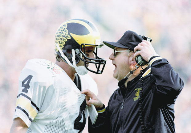 Jim Harbaugh and Bo Schembechler :: AP