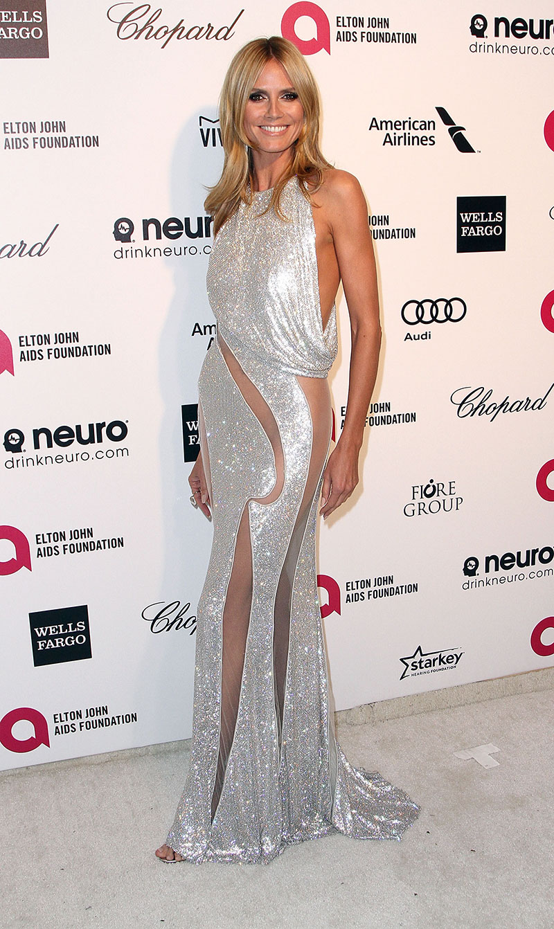 Heidi Klum attends the Elton John AIDS Foundation's 23rd annual Academy Awards Viewing Party