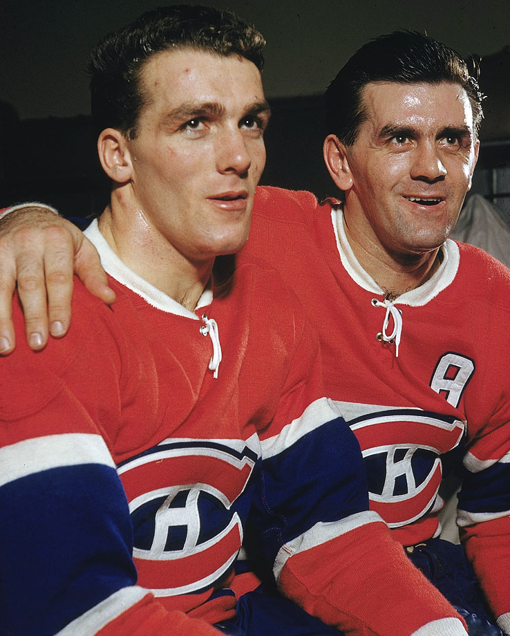 Arguably the greatest pair of siblings to lace 'em up in the NHL, the Richards gave the Canadiens dual Hall of Fame ''Rockets'' that launched a record-setting dynasty. Center Henri, the ''Pocket Rocket'', joined his bigger, older brother—the fiery, legendary ''Rocket'', the first player to record 500 goals and score 50 in a season— as a rookie in 1955. The Habs went on to win the first of five straight Stanley Cups, a streak that has never been equaled. The run concluded Maurice's career, but the slick skating, playmaking Pocket Rocket went on collecting silverware, retiring with a record 11.