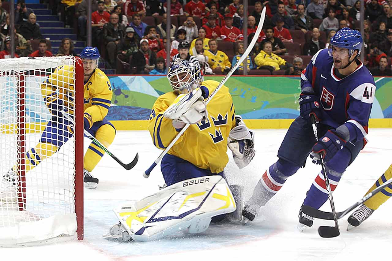 With Sweden's offensive might whittled away by injuries and slumps, the pressure falls squarely on King Henrik to keep this team in gold medal contention. Fortunately for Tre Kroner, the timing couldn't be better. After a slow start, Lundqvist is back to playing world-class hockey for the New York Rangers, allowing just 19 goals on 363 shots –a .948 save percentage—since being named to Team Sweden. -- Allan Muir
