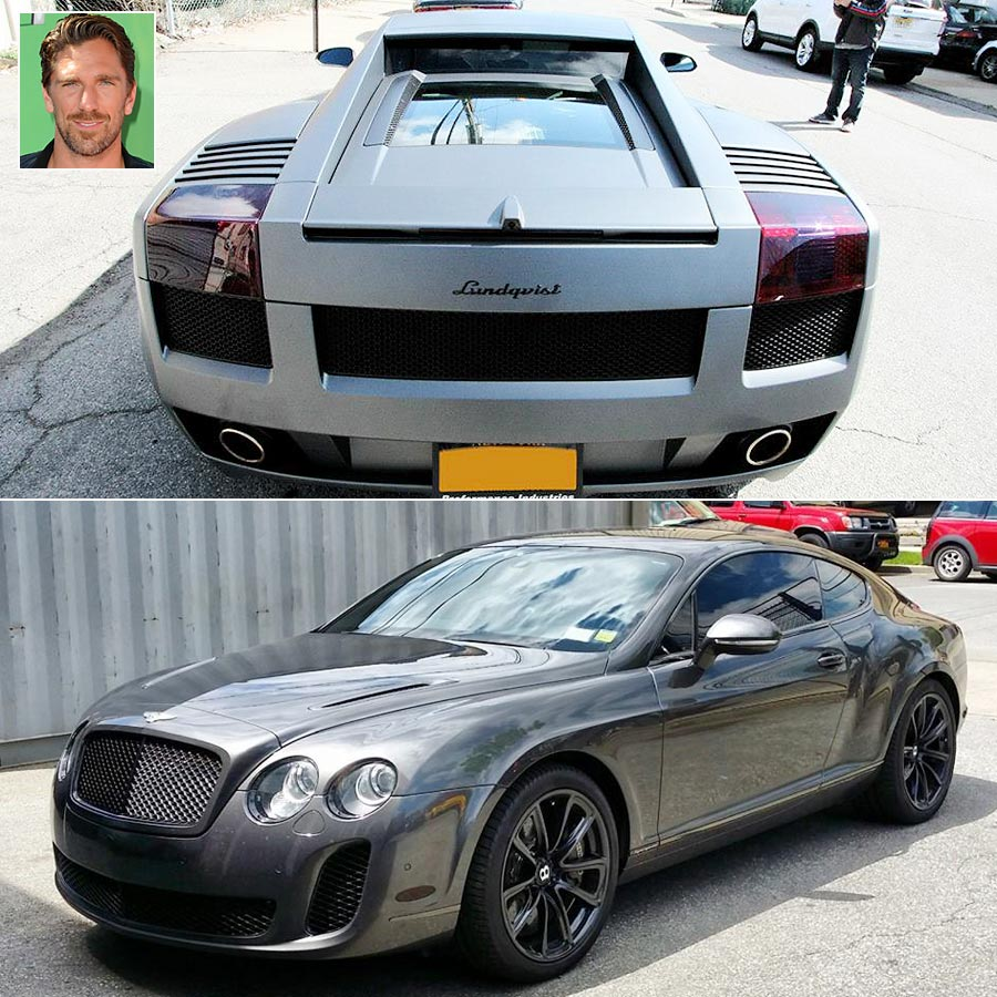 When he's not protecting the net, Henrik Lundqvist drives these beautiful cars: a Bentley Continental GTC Supersport and a custom Lamborghini.