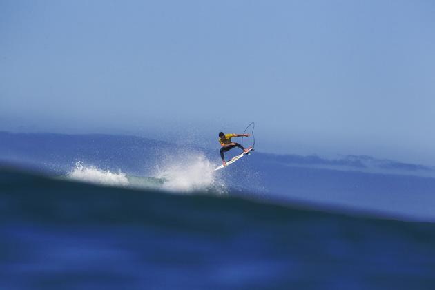 Gabriel Medina of Brazil surfing during the quarterfinals.