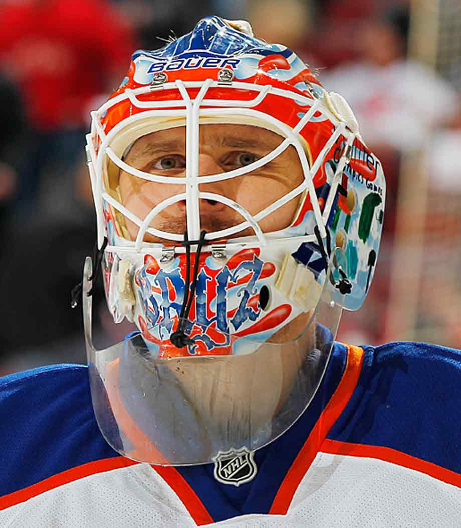 HBO's 24/7 series, which followed the Flyers as they prepared for the 2012 Winter Classic, made Bryzgalov a media sensation as he mugged for the cameras while expounding on the universe, humanity's purpose, and the absurdity of hockey. He was odd. He was twitchy. He was sometimes incomprehensible. In short, he was a typically flaky goalie. He was not, however, the answer to the Flyers' long-standing need for a Stanley Cup-caliber stopper. Bryzgalov's strong run in Phoenix was rewarded by a nine-year deal from the Flyers worth $51 million. Two turbulent, mercurial seasons ensued as Bryzgalov melted down in the heat of Philadelphia's demanding crucible. He was finally bought out for $23 million in June 2013. His NHL future in doubt, he plucked off the scrap heap by the Oilers, who are still seeking their own answer in net.