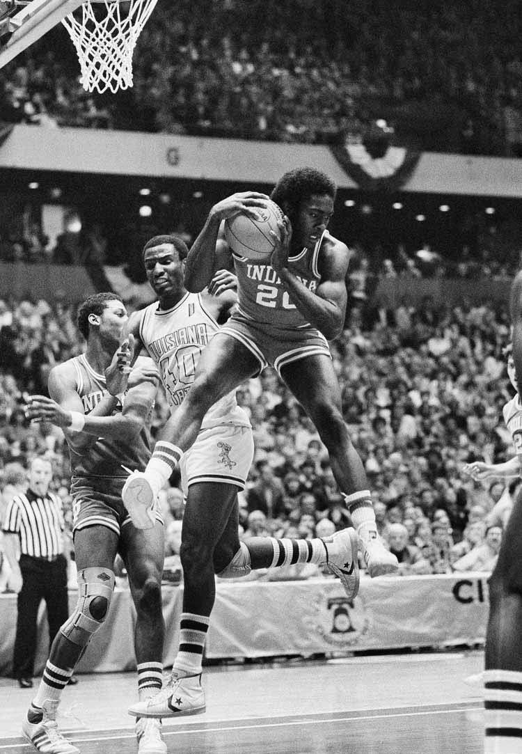 1981: No. 3 Indiana defeats No. 1 LSU 67-49 in a national semifinal.
