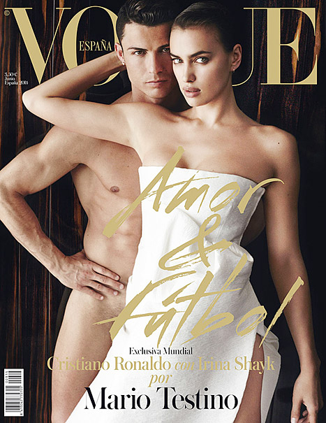 With Cristiano Ronaldo, Vogue Spain, June 2014