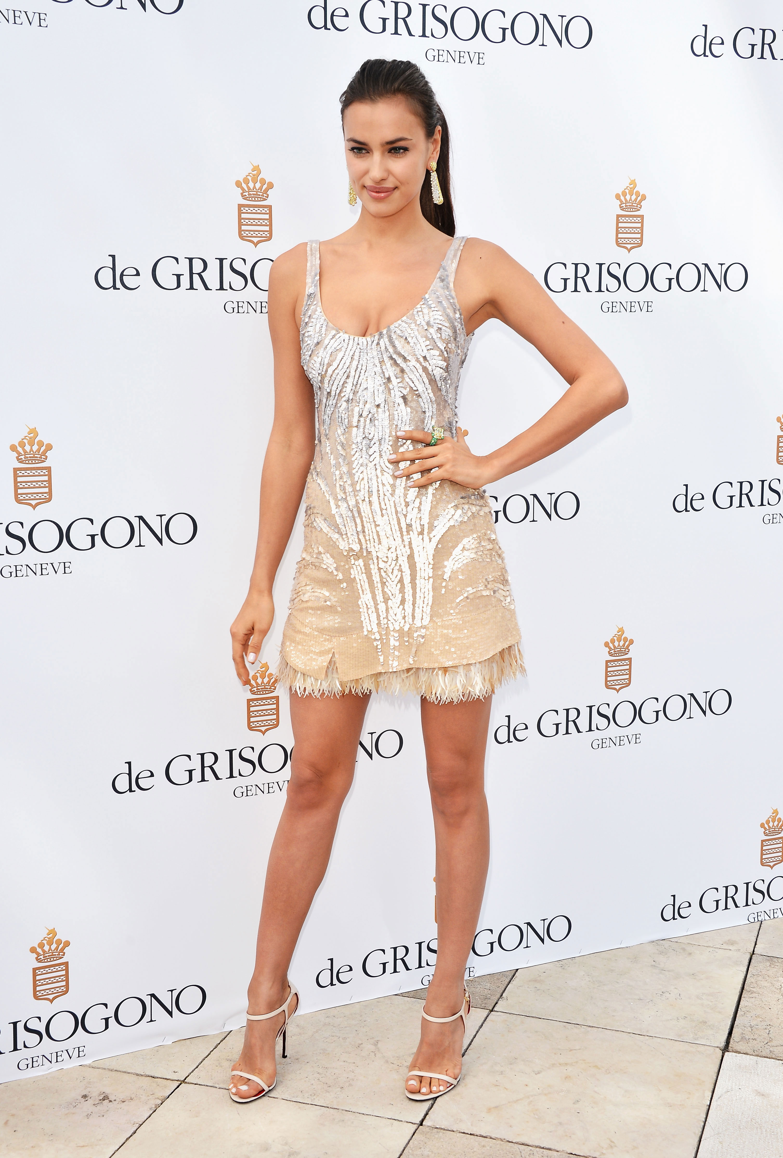 Irina Shayk poses at the de Grisogono Photocall during the 65th Annual Cannes Film Festival.