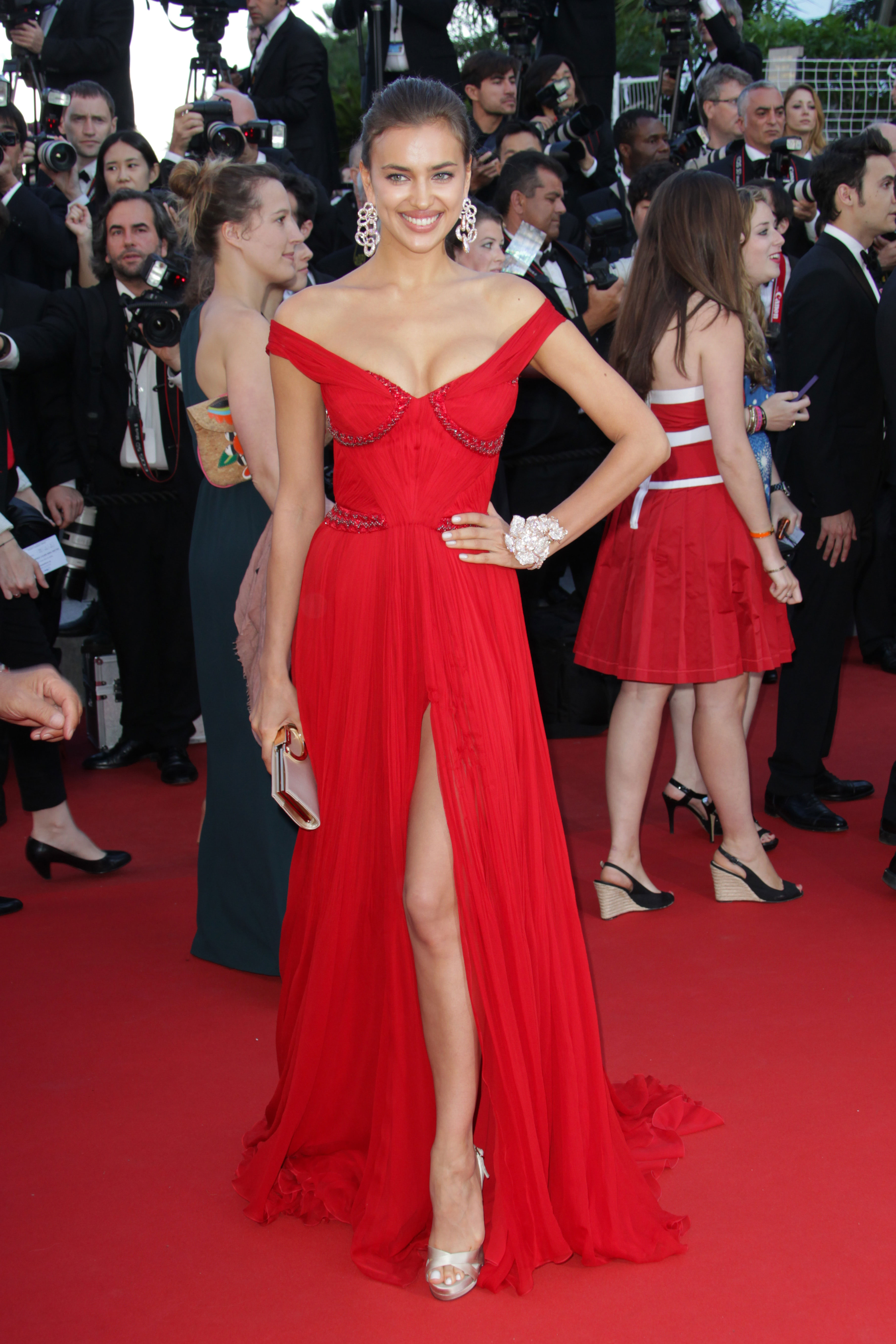 Irina Shayk attends 'Killing Them Softly' Premiere at Palais des Festivals at the Cannes Film Festival.