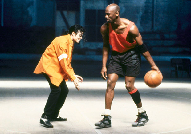 Michael Jackson and Michael Jordan :: AP
