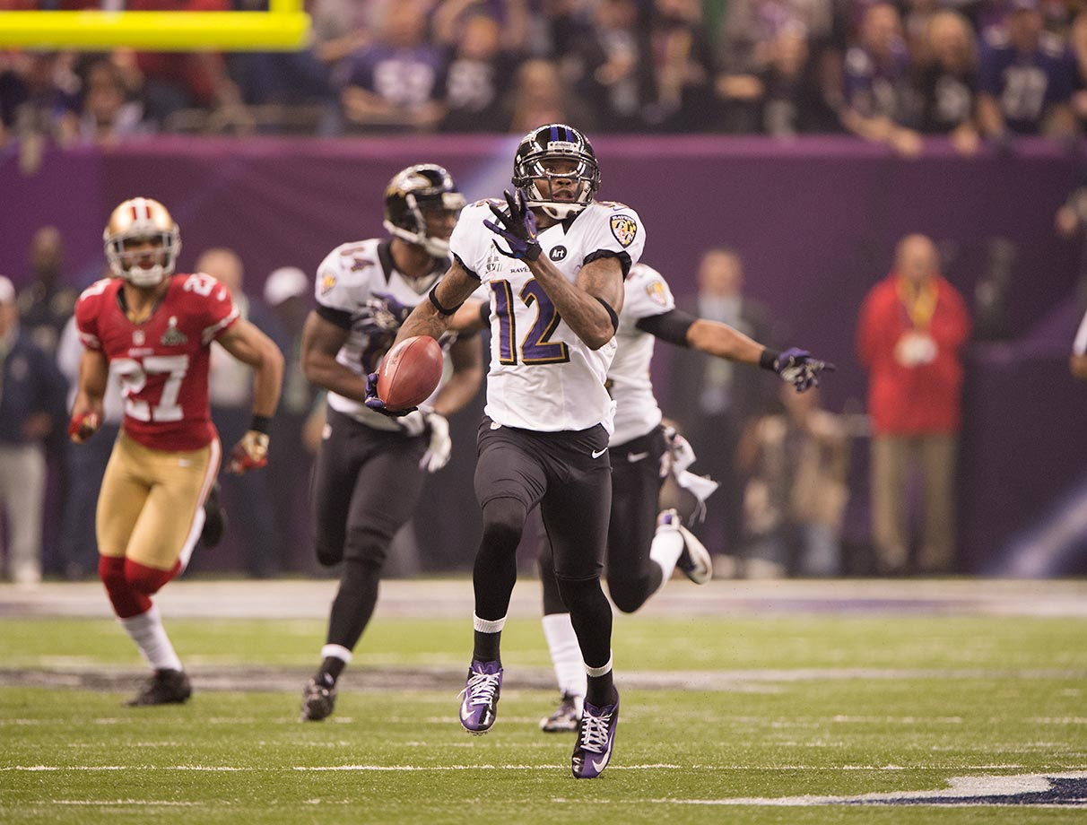 Jacoby Jones has four punt-return and five kick-return touchdowns during his eight-year career. When Jones isn't returning, he's tried with mixed results to be a offensive weapon, amassing 14 receiving touchdowns and one two-point conversion since 2009.
