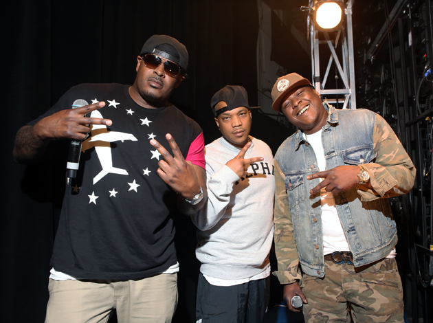 From the left, Sheek Louch, Styles P and Jadakiss.
