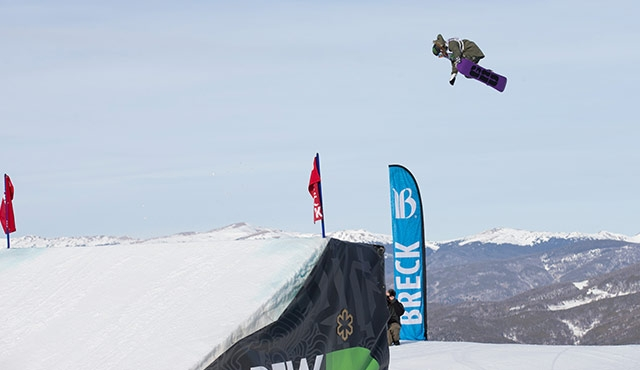 Jamie Anderson in the women's slopestyle final.