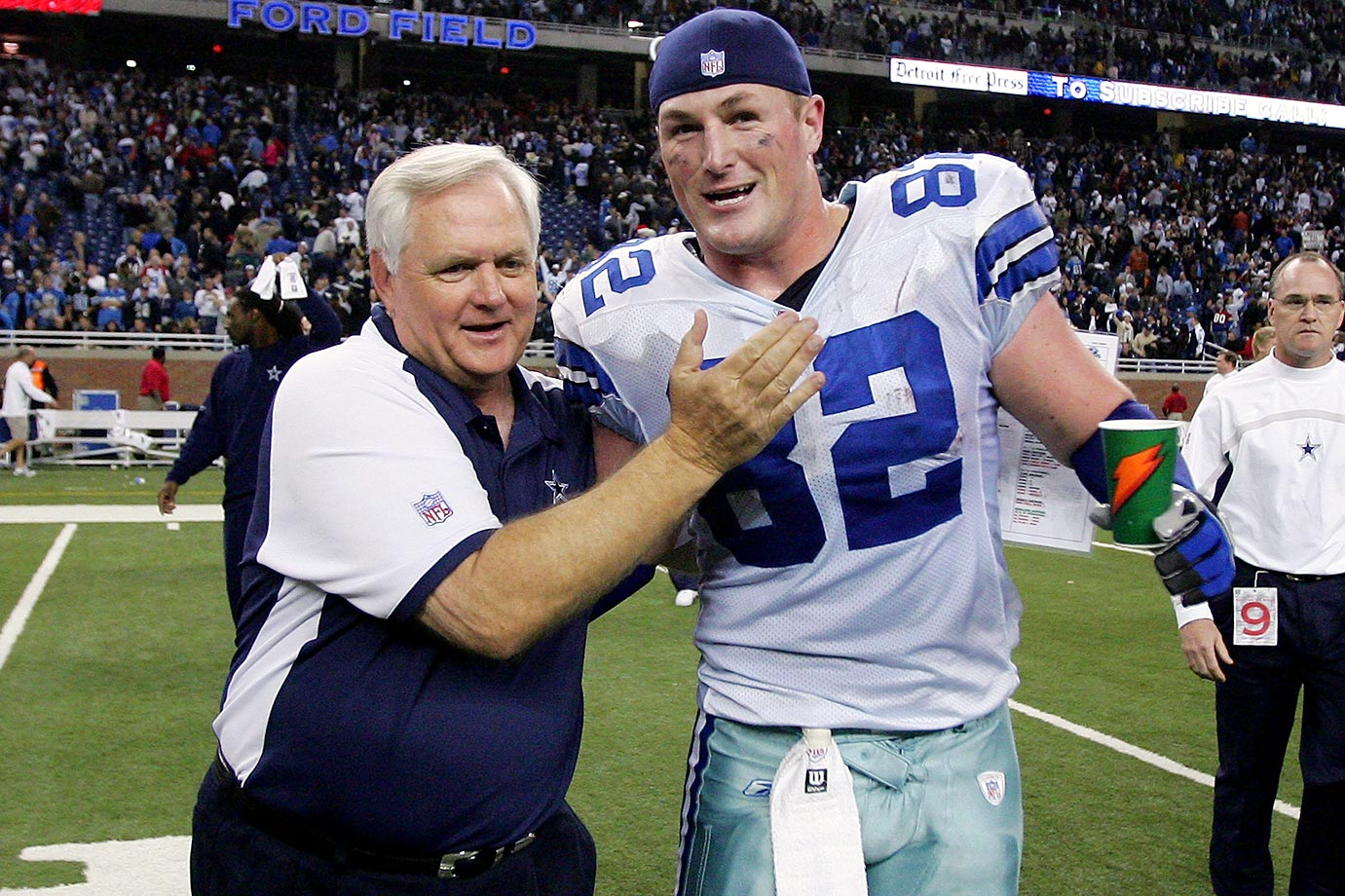 Witten with former Cowboys head coach Wade Phillips.