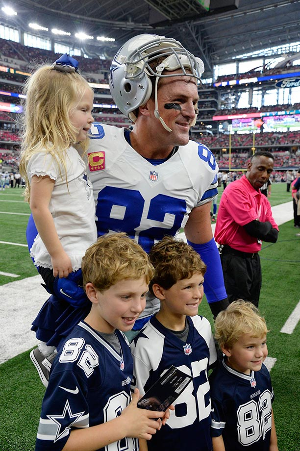 Witten and his four children.