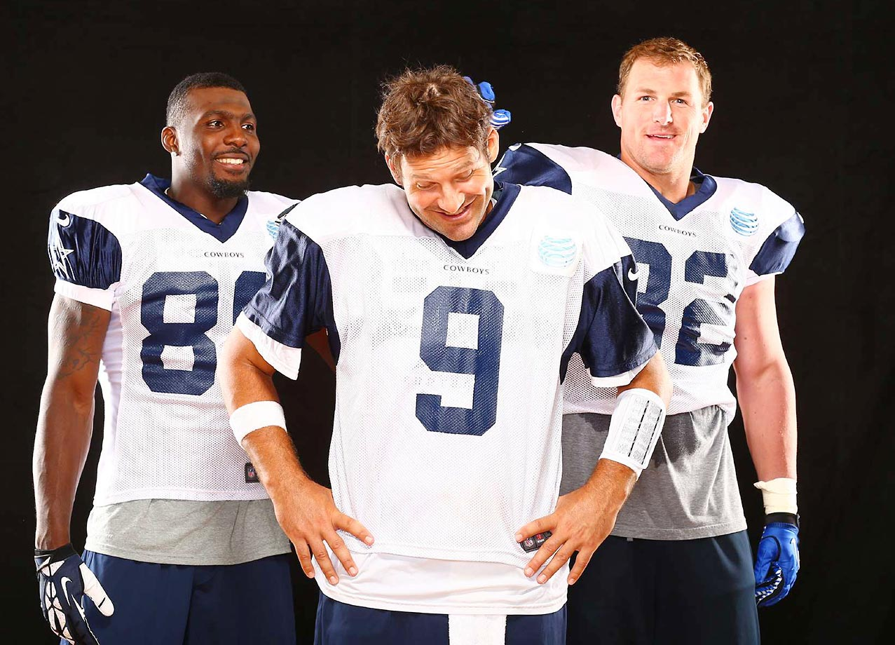 Witten with Tony Romo and Dez Bryant at an SI photo shoot.
