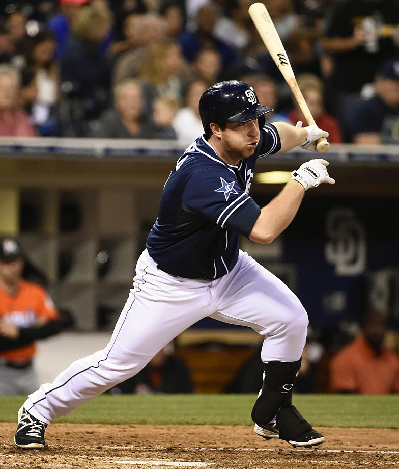 Used in a sentence: Gyorko hit 23 home runs for the Padres as a rookie in 2013, but has struggled since.