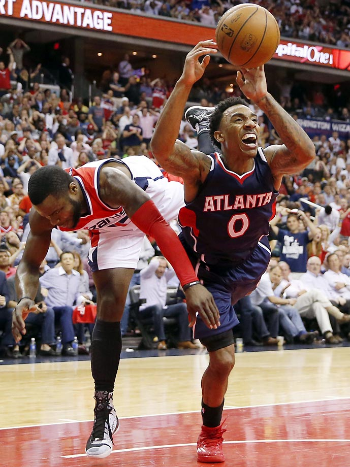 Hawks' Jeff Teague and Wizards' Will Bynum.