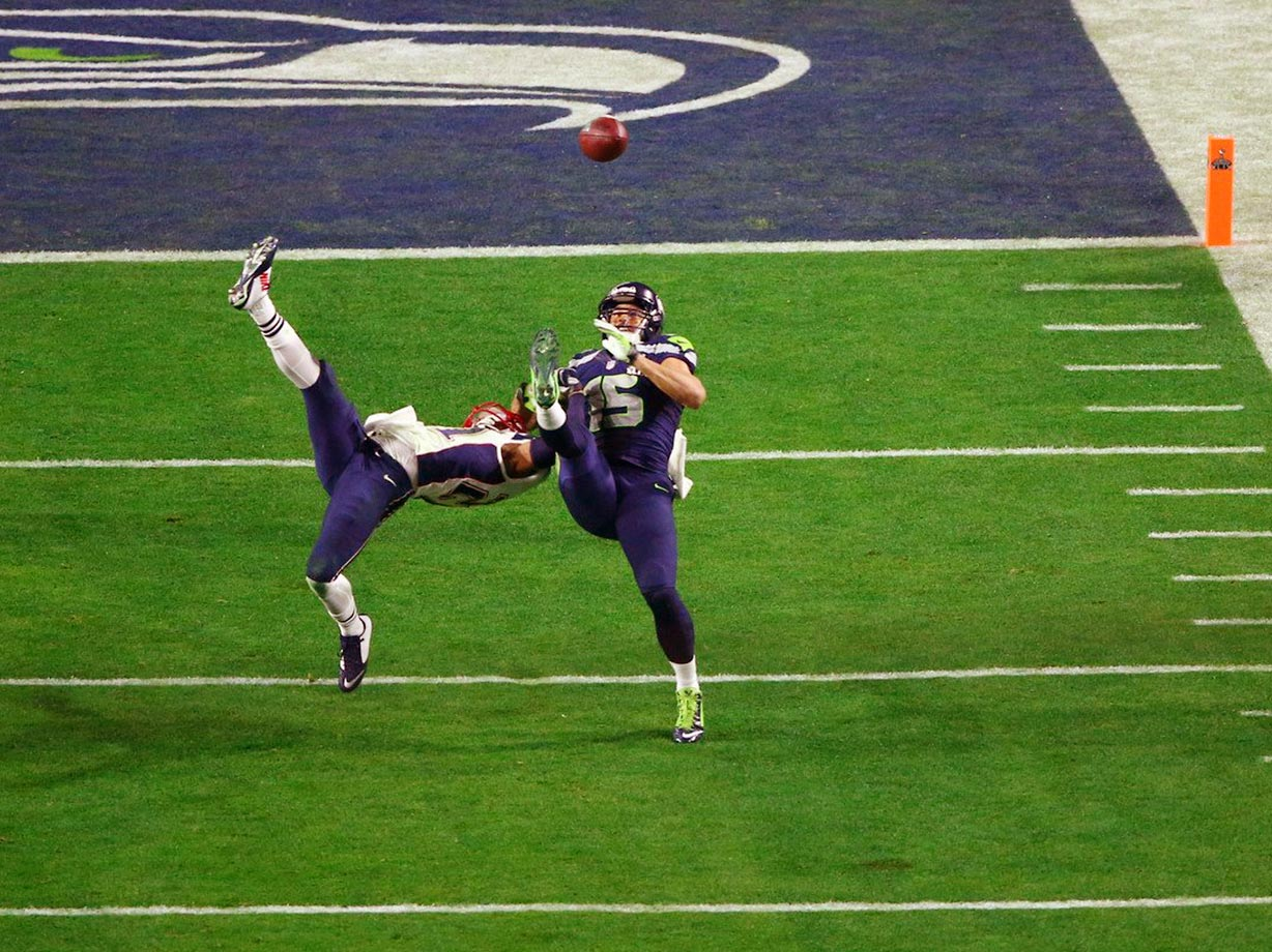2014: Jermaine Kerse's juggling catch inside the 5-yard line, which nearly won the Super Bowl for Seattle against the Patriots.