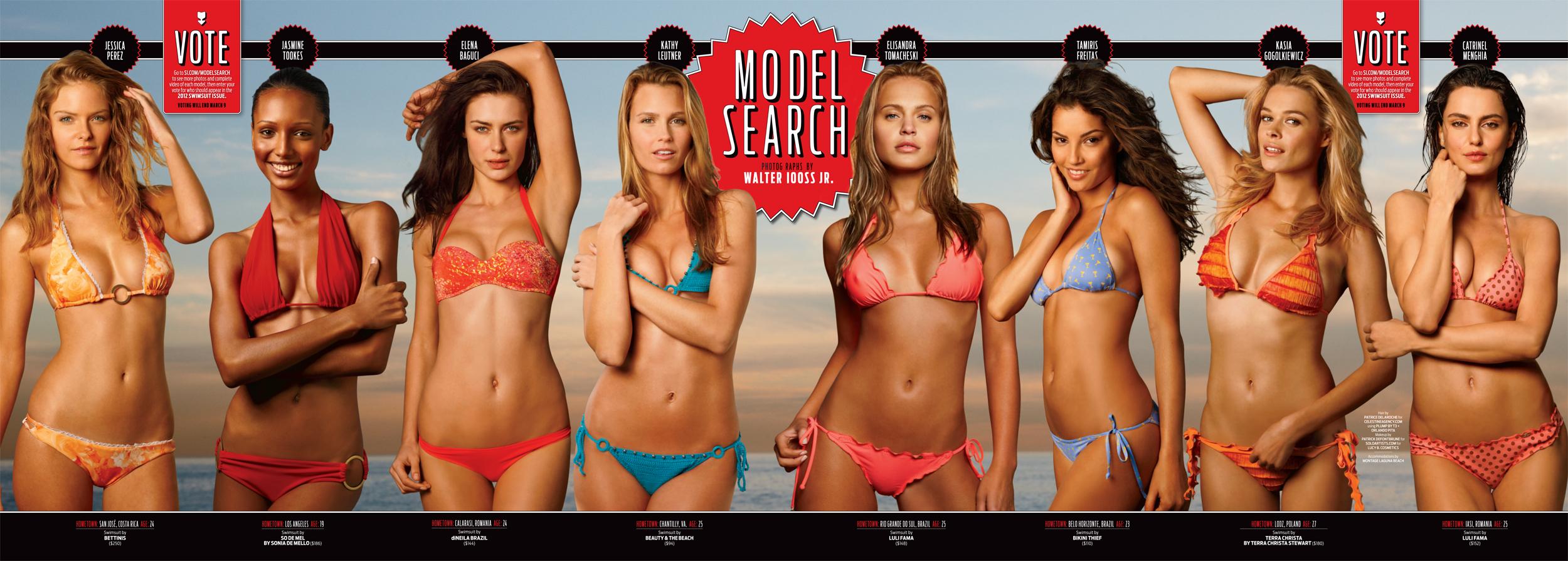 Jessica Perez (far left) in Laguna Beach for 2011 Model Search