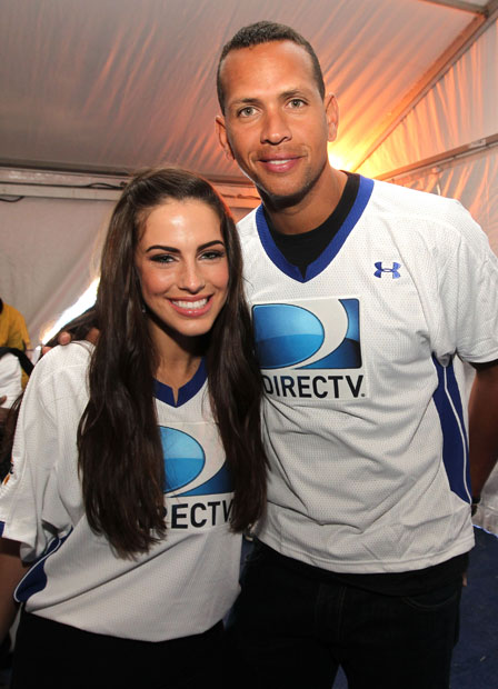 Jessica Lowndes and Alex Rodriguez :: Getty Images