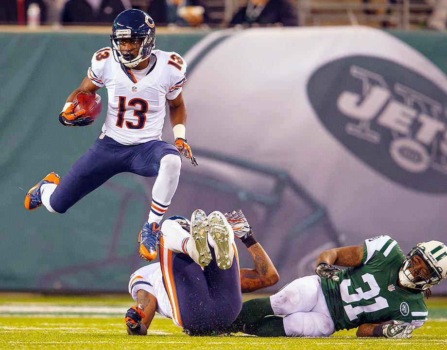 Rashad Ross heads upfield during Chicago's win against the Jets on Monday night.