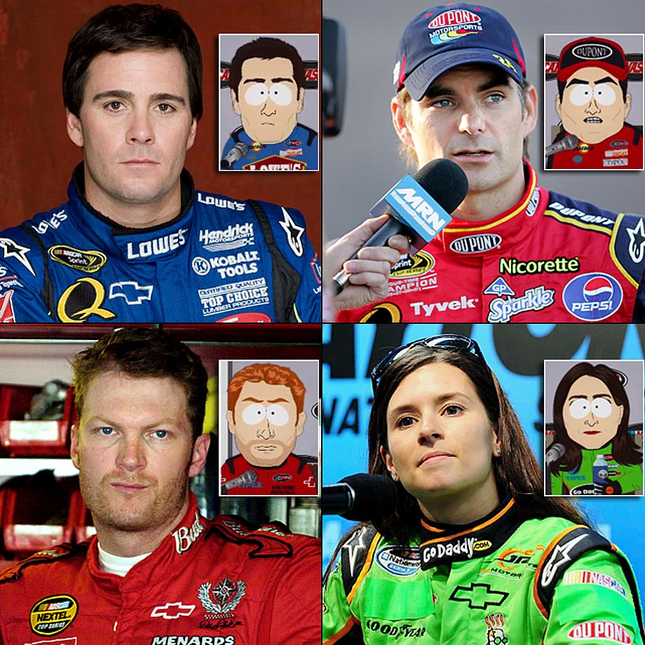 "Episode: ""Poor and Stupid"" (Original Air Date: Oct. 6, 2010) — Cartman joins the other NASCAR drivers for a press conference."
